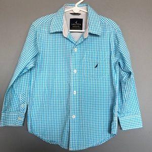 Nautica Youth Button Down Dress Shirt, Size 5/6